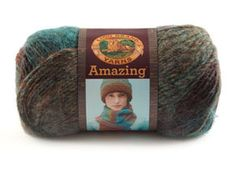 $8.29, Pink Sands OR Glacier Bay OR Mauna Loa OR Carnival - Amazing Yarn from Lion Brand Yarn
