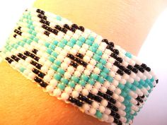 Hey, I found this really awesome Etsy listing at https://www.etsy.com/listing/467604002/blue-design-loom-bracelet-beaded