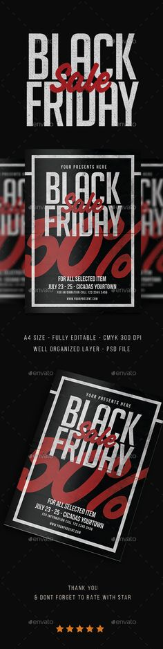 Black Friday Sale Flyer Template PSD