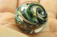 Into the Fire Lampwork Art Beads ~Chaotic State~ Artist handmade glass bead SRA
