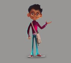 character designing processes on Behance