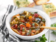 Forget the cabbage soup diet, you'll want to eat this super healthy vegetarian cabbage soup just because it tastes incredible! Vegetarian Cabbage Soup, Cabbage Soup Diet, Cabbage Soup Recipes, Healthy Soup Recipes, Vegetarian Recipes, Cabbage Vegetable, Vegan Soups, Delicious Recipes, Keto Recipes