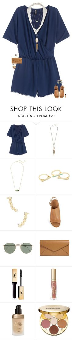 """idk"" by maggie-prep ❤ liked on Polyvore featuring H&M, Kendra Scott, Kate Spade, J.Crew, Vera Bradley, Too Faced Cosmetics and tarte"