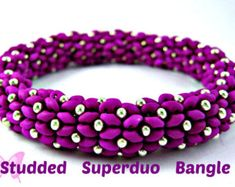 Pattern Superduo Tartan Bracelet Tutorial. Super Duo Peyote