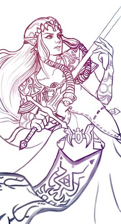 Zelda sketch - critique desired by WrathOfWinds