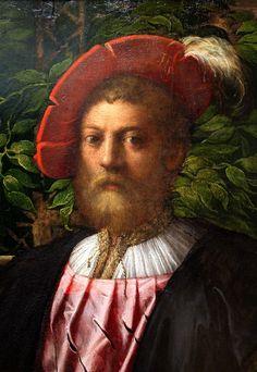 Francesco Parmigianino. Portrait of Lorenzo Cybo. 1523. detail