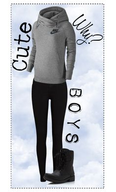 """""""why are some boys so cute?"""" by alligatormarie ❤ liked on Polyvore featuring River Island, NIKE, cute, why and boys"""