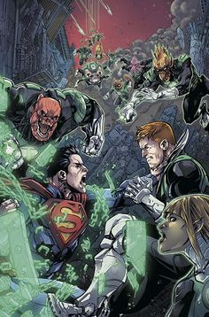 INJUSTICE YEAR TWO #5  Written by TOM TAYLOR  Art by BRUNO REDONDO  Cover by JHEREMY RAAPACK  On sale MAY 28 • 32 pg, FC, $2.99 US • RATED T • DIGITAL FIRST  Under orders from the Guardians, Kilowog leads a team of Green Lanterns to Earth to apprehend Superman and return him to Oa to stand trial. But the Man of Steel is not about to go quietly. And the Green Lantern Corps haven't factored in Superman's new allies. The first battle begins in a war that could tear the universe apart.