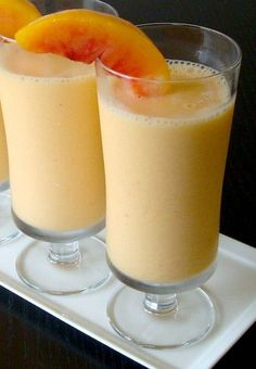 Peach Almond Smoothie // Easy and Delicious Fat Burning Smoothies*** 2 ½ cups peaches • 2 cups soy milk – note that you can use regular low fat milk if you want • 3 tablespoons almond butter • Cinnamon to taste – about 1 teaspoon should do it • 7 or 8 ice cubes • Sliced almonds  Just put everything in the blender and process