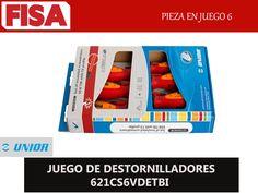JUEGO DE DESTORNILLADORES 621CS6VDETBI -Pieza en juego 6 -FERRETERIA INDUSTRIAL -FISA S.A.S Carrera 25 # 17 - 64 Teléfono: 201 05 55 www.fisa.com.co/ Twitter:@FISA_Colombia Facebook: Ferreteria Industrial FISA Colombia