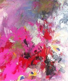 detail of PETALS abstract mixed media