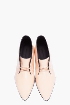 ALEXANDER WANG Nude Leather Elin Desert Boots