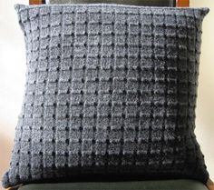 Textured Cushion - easy knit!