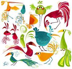 Meg Park - Sketch Blog: Jungle Birdies