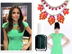 Look of the Day: Gorgeous in Green on 'Ellen'  Spring Awakening $138 on Bethenny.  Get your own at www.stelladot.com/laurengegg
