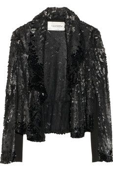 Valentino Paillette-embellished tulle blazer, 85% off on @THE OUTNET.COM