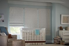 Find inspiration for your window treatments solution with the Graber Design Gallery. Modern Roman Shades, Room Window, Shades Blinds, Shutters, Interior Styling, Window Treatments, Baby Room, Cribs, Photo Galleries