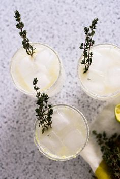 This is a delicious gin cocktail with thyme, lime, and grapefruit perrier. Cocktails with herbs are refreshing and unique. Thyme and lime are great together