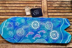 "if you are heading to the presentation tonight at Club Forster this baby will be up for auction || ""The Wallis Lake Spirit"" acrylic on ply 