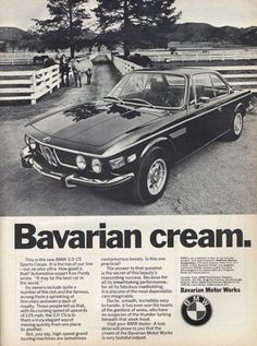 #bmw #vintage #car #ads #bavarian #driving BMW CS - Vintage Car Ads