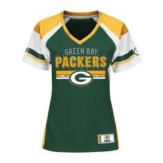 Green Bay Packers Draft Me Fashion Top, Dark Green, Women's, Small