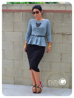 DIY Peplum Top and DIY Skirt!!!
