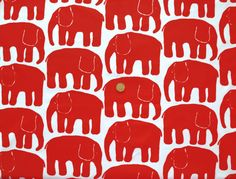 Classic 60's vintage elephant print from Finlayson