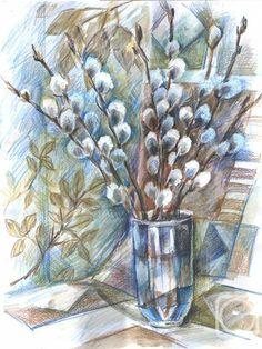 Pencil Shading, Pencil Drawings, Coloured Pencils, Pencil Illustration, Painting & Drawing, Still Life, Diy And Crafts, Watercolor, Ink