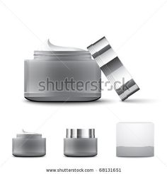 Cream containers - stock vector