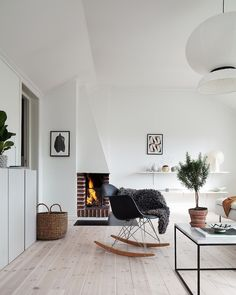 My Scandinavian Home: Green And Pink Accents In A Beautiful Swedish Family  Home Living Room. Living Room InspirationLiving Room InteriorLiving ...