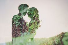 Photographer Kelsea Holder highlights a #wedding #photography trend: dreamy double exposures of couples in love.