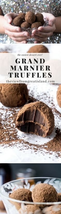If you do nothing else this holiday season, make yourself a batch of homemade Grand Marnier Truffles. You won't regret it. Neither will your friends. #dessert #candy #truffles #chocolate #Grandmarnier #holidaydessert #foodgift #Christmasdessert #Christmascandy #easycandy #besttruffles #amazingtruffles #newyearseve #Thanksgiving