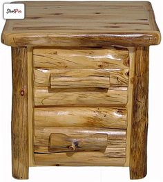 Rustic Aspen Two Drawer Nightstand. So Cute Up At The Cabin!