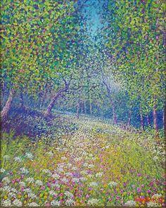 Wild Flowers, Nordby Oil on linen, 40 x 50 cm  SOLD Monet, Impressionist, Wild Flowers, Oil, Artwork, Travel, Painting, Work Of Art, Viajes