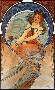 alphonse mucha art nouveau -  ✖️Alphonse Mucha (Czech, 1860 - 1939). ✖️FOSTERGINGER AT PINTEREST ✖️