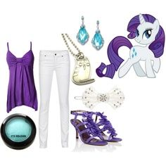 """casual cosplay my little pony   Rarity - Casual"""" by catloverd on Polyvore"""