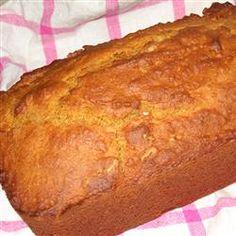 Pumpkin Bread recipe with canned pumpkin and a little bit of OJ added.