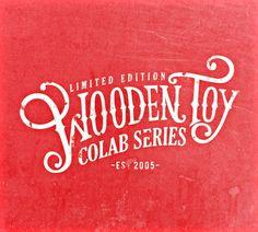 Wooden Toy Typography / Timba's Design Dept