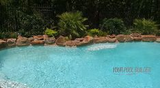 Pools with rock water features