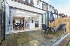 Winkworth - Barnes present this 4 bedroom house in Ripley Gardens, Mortlake, London, House Extension Plans, Rear Extension, Extension Ideas, Kitchen Diner Extension, Open Plan Kitchen, Kitchen Ideas, Bedroom Floor Plans, 4 Bedroom House, House Extensions