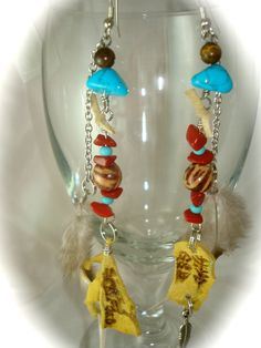 Native leather earrings by Gypsie8 Designs
