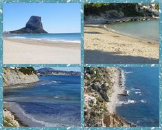 beaches and coves of Calpe, Costa Blanca, Spain Beach Cove, Spanish Holidays, The Province, Beaches, Costa, Portugal, Spain, Water, Travel