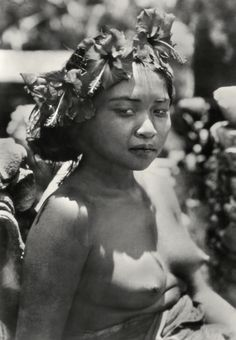 E.O. Hoppé   Girl with Wreath Offering (Kembang Spatoe) in Hair, Bali, 1930