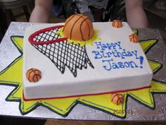Basketball Cake for Gregory's 5th