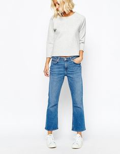 Image 1 of Weekday Cut Cropped Flare Jean