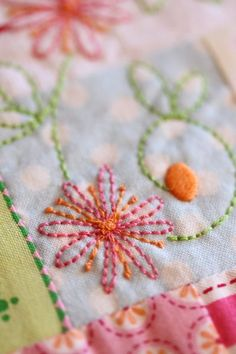 Leanne Beasley quilting/stitching, embroidery on quilts, with lots more like putting canvas on a frame etc....  goodness