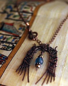 Handmade Ancient Egyptian Queen Inspired Wire Weave Copper Choker Necklace by SeaElementsCrafts on Etsy