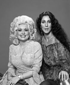 Dolly Parton and Cher photographed by Harry Langdon, 1978.