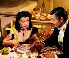 """""""Don't scrape the plate, Scarlett. I'm sure there's more in the kitchen."""" """"Gone With The Wind"""""""