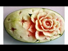 Stars And Roses carving fruits Watermelon, Channel, Roses, Carving, Make It Yourself, Fruit, Stars, Youtube, Fruit Carvings